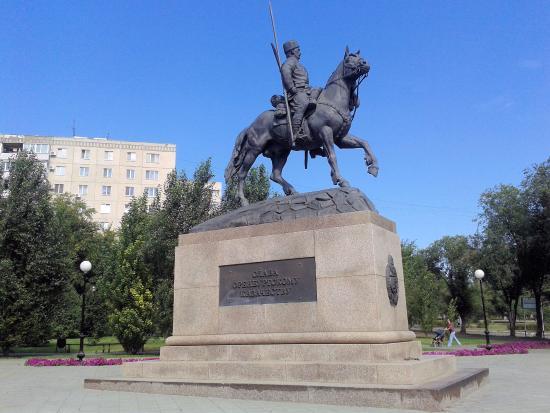 Monument to Orenburg Cossacks
