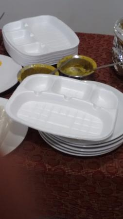 Tourists Rest House: Plates which cannot be carried