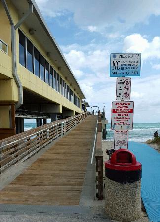 Dania Beach Fishing Pier Entrance Ramp