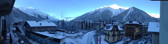 UCPA Chamonix Cosmiques: View from the front of the hostel