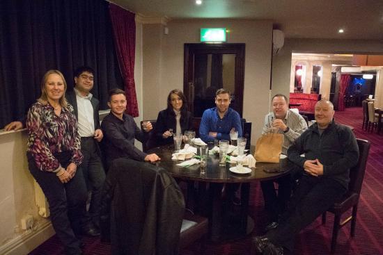 Ferrybridge, UK: Steve's birthday. Ali making a guest appearance!