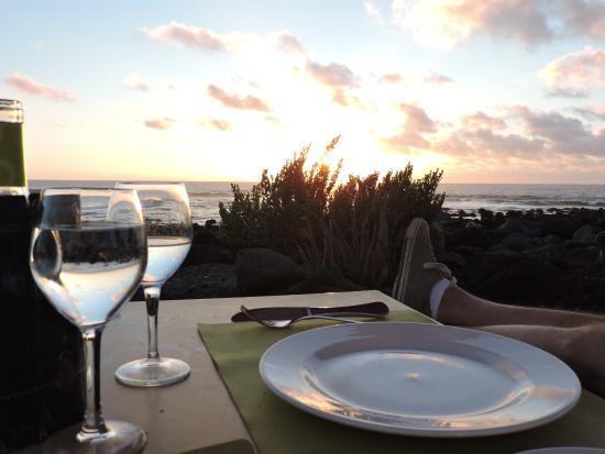 EL Golfo, España: Der Blick aufs Meer vor dem Sonnenuntergang