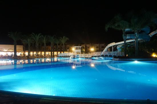 Pool At Night Picture Of Tui Family Life Tropical Resort Sarigerme Tripadvisor