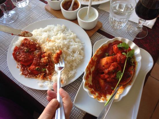 Clermont, França: Riz Basmati et Chicken Vindaloo