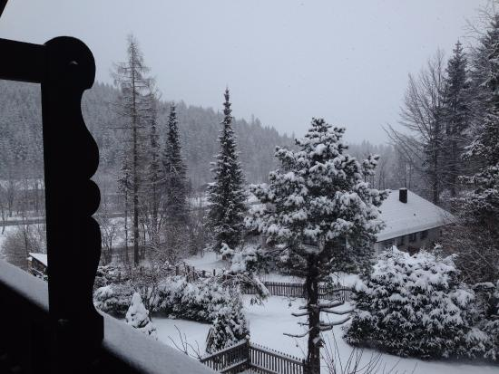 Klais, Tyskland: Balkon in den Garten