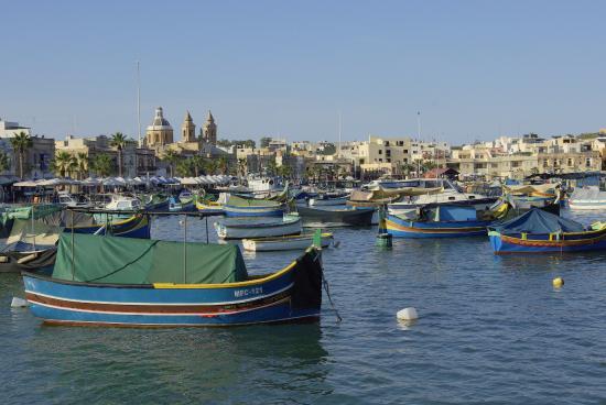 Marsaxlokk, Malta: Vue générale du port