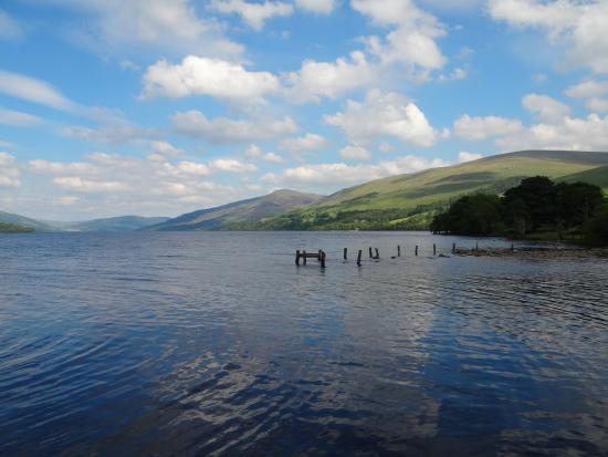 Ardeonaig Hotel: A picture taken during our summer visit of the Loch on the hotel grounds.