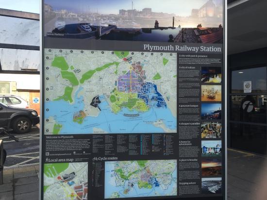 プリマス鉄道駅にある案内板 - Picture of Plymouth, Devon - Tripadvisor