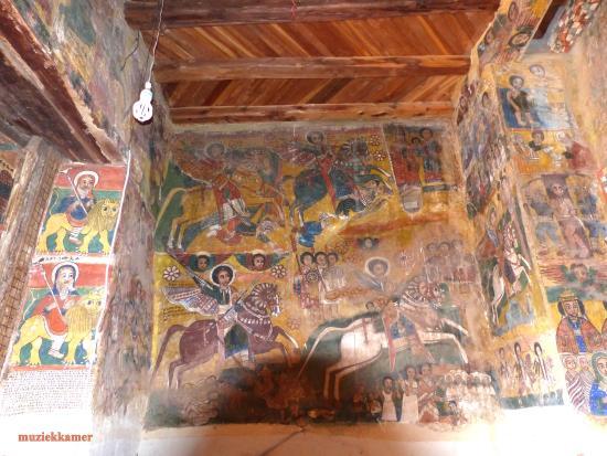 Mek'ele, Etiopía: muziekkamer in de rotskerk