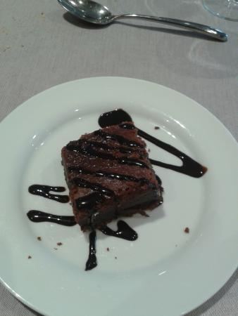 Llavorsi, Španielsko: brownie de chocolate