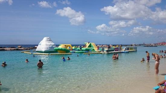 Juegos Inflables En Mambo Beach Picture Of Curacao