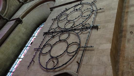 Here's what they used as foundation for the stained glass windows ...