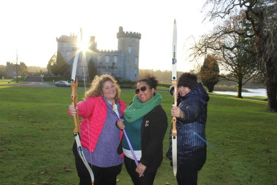 Dromoland Castle Hotel: Archery lessons-Notice the sun on my bow! ;-)