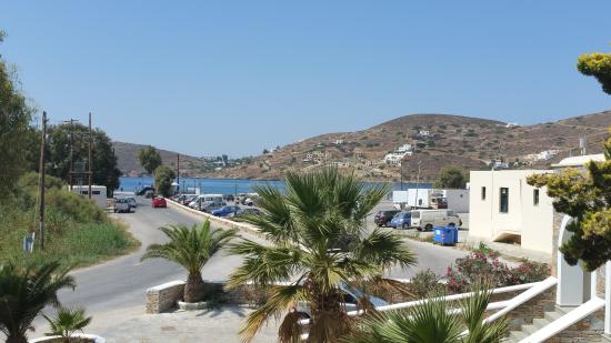 Yialos, Grecia: Fab view of sea/port from our room