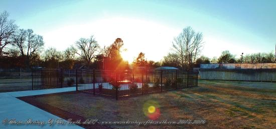Indianola, MS: Sunset at the BB King gravesite