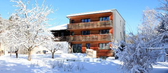 Hinterstoder, ออสเตรีย: Hotel Garni Wallner Gartenansicht Winter