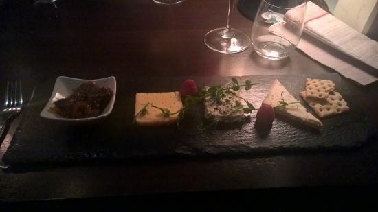 Sundsvall, Sverige: En av restaurangerns desserter, ostbricka med lokala ostar