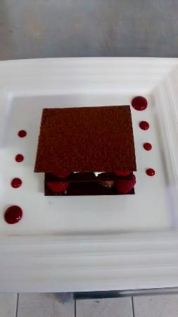 Rauzan, Francia: Croustillant chocolat framboises
