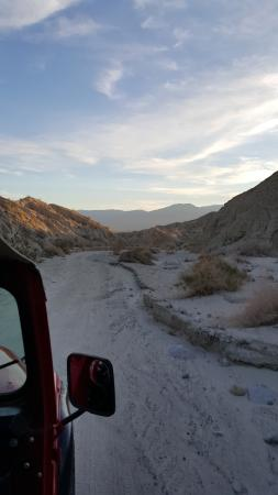 Desert Adventures Red Jeep Tours: The trail, taken from moving jeep
