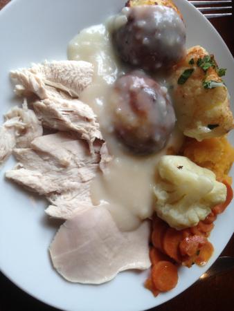 Motherwell, UK: Turkey and vegetables.