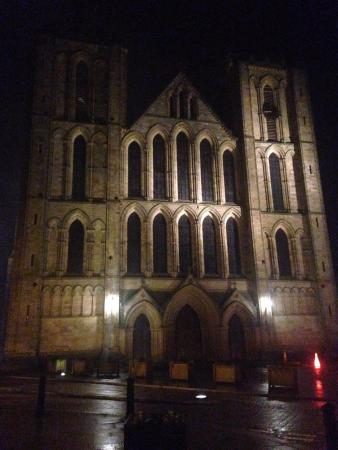 Ripon Cathedral in the evening