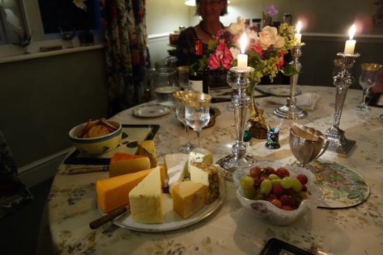 Uplands House: Poppy's assortment of cheeses to complete the dinner