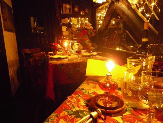 Madesimo, Italia: Ambiance tamisée sous l'alcôve