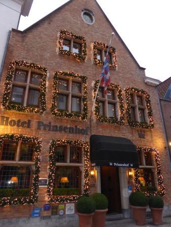 Hotel Prinsenhof Bruges: Hôtel Prinsenhof extérieurs à Noël