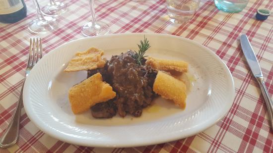 Pontassieve, Włochy: Peposo con Polentine fritte