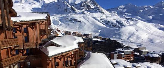 Residence Les Balcons de Val Thorens: view from Balcons 1 balcony! (Crystal Ski accommodation)