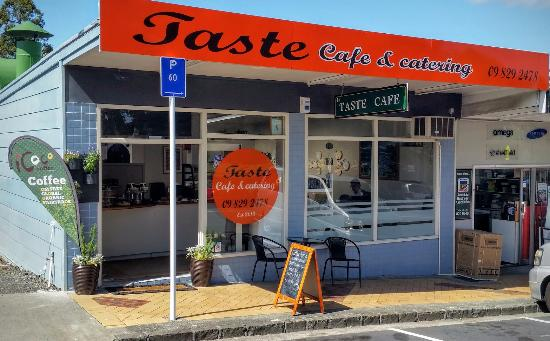 Exterior of Taste Cafe & catering Avondale, Auckland.