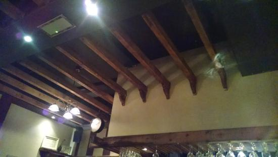 The Quay Street Kitchen: Loved the wood beam ceiling.