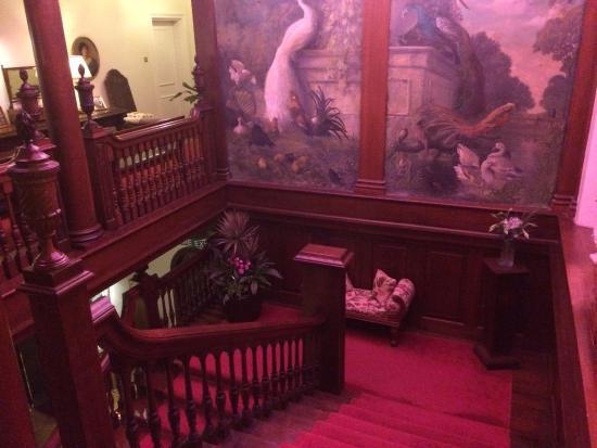 Llyswen, UK: Staircase to first floor