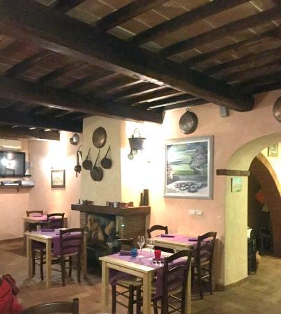 Lucignano, Ιταλία: particolare del ristorante