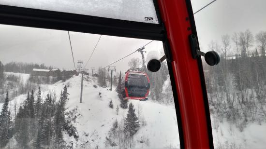 The gondola at Lutsen, new this year