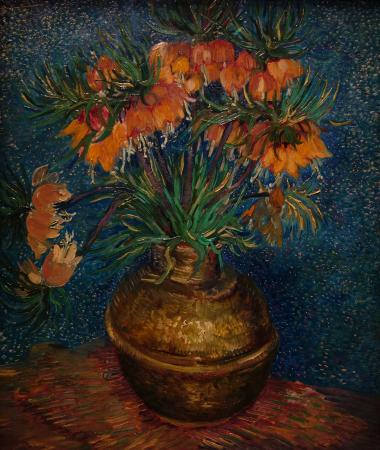 vincent van gogh fritillaires couronne imp riale dans un vase de cuivre picture of musee d. Black Bedroom Furniture Sets. Home Design Ideas