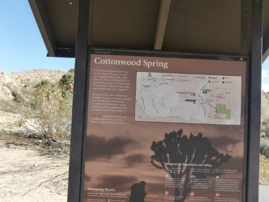 Twentynine Palms, CA: Cottonwood Spring trailhead