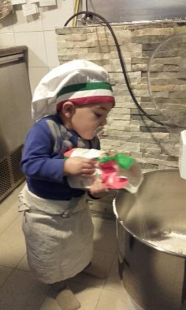 Saint-Cyr-sur-Mer, Frankrig: Le chef pizziolo et la pizza st cyr