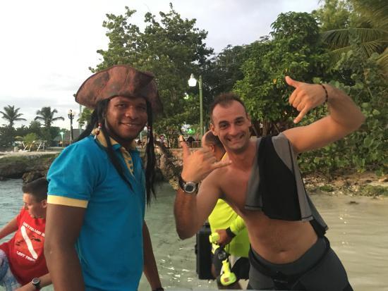 Bayahibe, Dominikana: Marcus & The Capitan