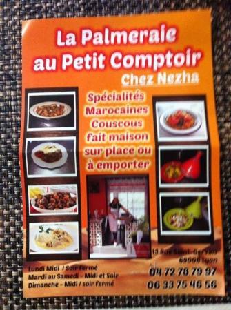 La palmeraie au petit comptoir lyon restaurant reviews - Comptoir lyonnais d electricite catalogue ...