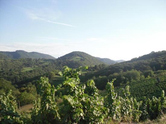 Ain, فرنسا: Une partie du domaine entourée de montagnes