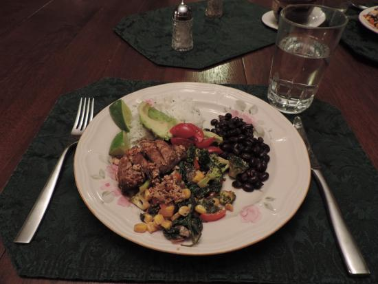 Nebraska City, NE: Dinner prepared by innkeeper Jeanna Stavas