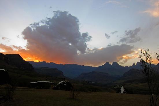 Винтертон, Южная Африка: Sonnenuntergang beim Abendessen
