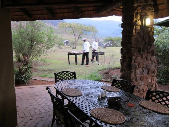 Winterton, Zuid-Afrika: Barbecue