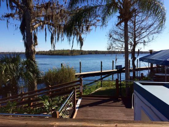 Palatka, FL: Beautiful Waterfront Scenery & excellent fresh fish! Definitely worth the visit!