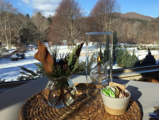 Woodstock, VT: View from dining area