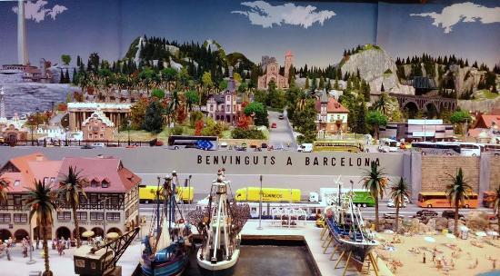 Santa Eugenia de Berga, Spanien: Foto de la maqueta del tren en tamaño HO
