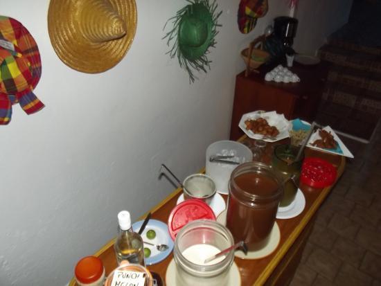 Marie-Galante, Guadeloupe: le buffet d'apéritif
