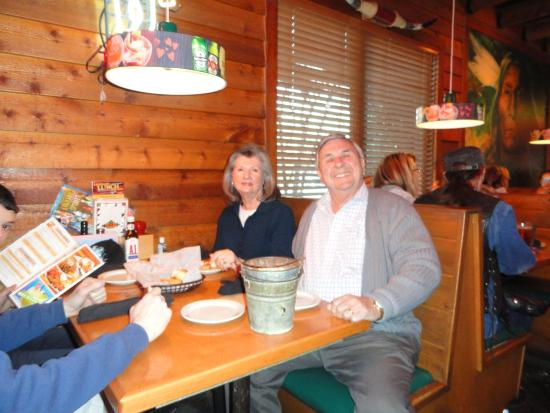 Texas Roadhouse: My wife and me celebrating my 71st birthday.
