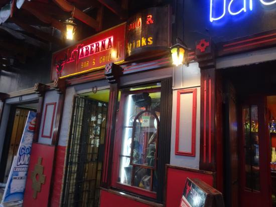 La Taberna Bar &Grill: Exterior view at night